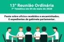 13ª Reunião Ordinária de 2020