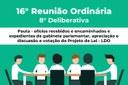 16° Reunião Ordinária  - 8° Deliberativa