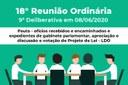 18° Reunião Ordinária - 9° Deliberativa