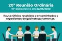 20° Reunião Ordinária - 10° Deliberativa