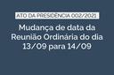 Alteração de Data da Reunião