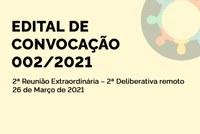 Edital de Convocação 002/2021